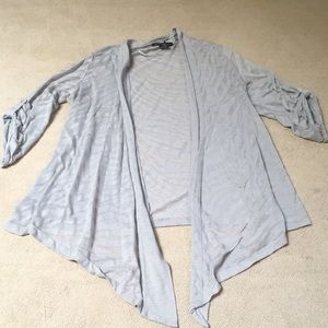 INC International Concepts grey zebra cardigan L
